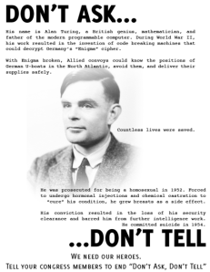 Alan Turing don't ask don't tell